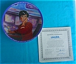 Click here to enlarge image and see more about item cp1: Star Trek Uhura Collector Plate w/Box