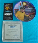 Click here to enlarge image and see more about item cp2: Star Trek Chekov Collector Plate w/Box