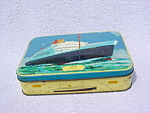 Benson's England Candy Tin w/Andes Ship