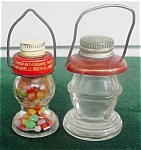 Pr. of Lantern Glass Candy Containers