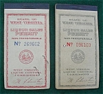 Pr of West Virginia Liquor Sales Ticket Books