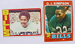 O.J. Simpson Buffalo Bills Football Cards