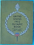 Click here to enlarge image and see more about item dbase57: 1952 United States Olympic Book