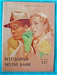 Click to view larger image of 11/11/1950 Pitt v Norte Dame Football Program (Image1)