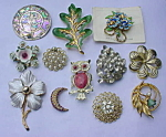 Group of Costume Jewerly Brooch Pins #2