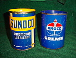 Sunoco & Amoco Early Grease Tins