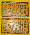1959 Pr. of Pennsylvania Boat License Plates