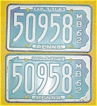 1962 Pr. of Pennsylvania Boat License Plates