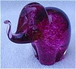 Pink Glass Animal Elephant