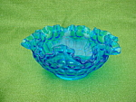 Blue Fenton Thumbprint Bowl