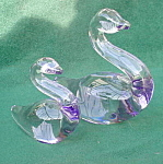 Pr. of Duncan Miller Glass Swans