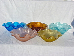 Colored Glass Berry Bowl Set