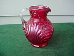 Cranberry Glass Pitcher