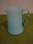Sm. Blue Applied Handle Pitcher