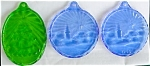 Click here to enlarge image and see more about item dhol16: 1980's Fostoria Glass Christmas Ornaments