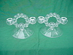 Click to view larger image of Candlewick Twin Candleholders w/Mallard Etch (Image1)