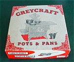 Grey Craft Childs Cast Iron Pots & Pans w/Box