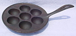 Click to view larger image of Vintage Cast Iron Handled Muffin Pan (Image1)