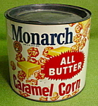 Click to view larger image of Older Monarch Caramel Corn Tin (Image1)