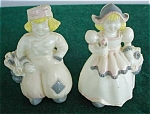 Pr. of Ducth Figural Plastic S&P Shakers