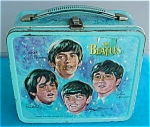 Click here to enlarge image and see more about item dlunch10: 1965 Aladdin Beatles Lunch Box w/Thermos