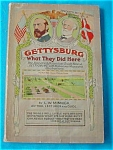 1954 Book:  Gettysburg--What They Did Here