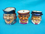 Set of 3 Handled Toby Mugs