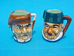 Pr. of Mini Handled Toby Mugs