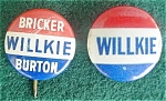 Click here to enlarge image and see more about item dpol6: Pr. of Wilkie Political Badges