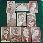 10 Old Movie/Film Actor Postcards