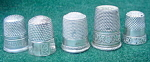 Click here to enlarge image and see more about item dsew21: Lg. Collection of Early Thimbles