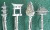 Click to view larger image of 8 Pc. Oriental Sterling Stick Pin Set w/Box (Image3)