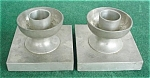 Click here to enlarge image and see more about item dst18: Pr. of Alloy Art Pewter Candleholders