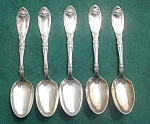 Click here to enlarge image and see more about item dst23: (5) Oneida Rogers La Vigne Teaspoons