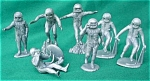 Marx Gray Astronaut Playset Figures