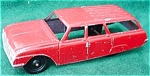 Click to view larger image of Lg. Tootsie Toy Red Station Wagon (Image1)
