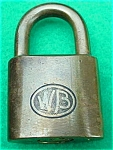 Click to view larger image of Old WB Brass Padlock (Image1)