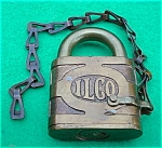 Click to view larger image of ILCO Brass Lock w/Chain (Image1)