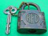 Click to view larger image of Old Acme Padlock w/Key (Image2)