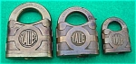 (3) Old Yale Brass Locks:  Sm., Med., Lg.