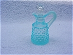 Click here to enlarge image and see more about item eg11: Fenton Hobnail Light Blue Cruet w/Stopper