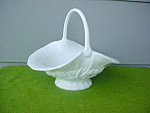 Lg. Milk Glass Handled Fruit Basket