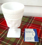 Click to view larger image of McKee Milk Glass Plymouth Thumbprint Tumbler  (Image2)
