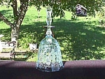 Click here to enlarge image and see more about item f105: Fostoria Navarre Blue Glass Bell