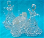 Scarce, American Fostoria 6 Pc. Condiment Set