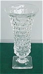 Click here to enlarge image and see more about item f97: American Fostoria 9 in. Sq. Ftd. Vase