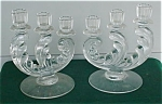 Click here to enlarge image and see more about item f98: Pr. of Fostoria Trindle Candleholders