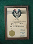 1936 Framed Eagle Scouts Certificate