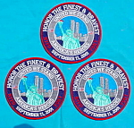 (3)  9/11 NYPD FDNY Patches