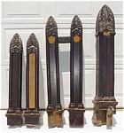 Click to view larger image of 5 Pc. Ornate & Gothic Bannister Set (Image1)